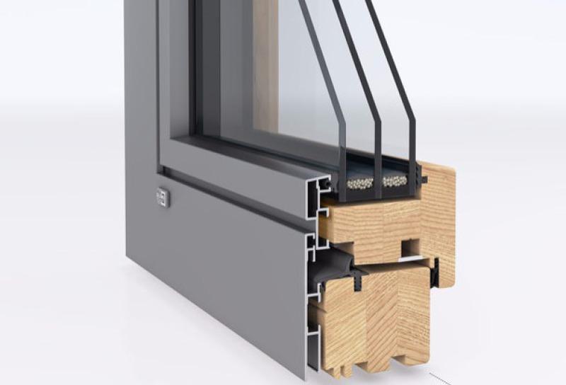 Holz-Fenster mit Aluminium-Außenschale
